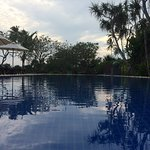 On end is shallow for kids, its quite a large pool for a hotel.