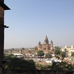 chaturbhuj temple , seen from orchha fort