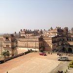 view of rajmahal from jehangir mahal