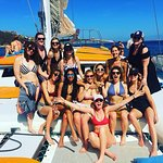 Bachelorette party on board the Ally Cat