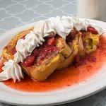 Cinnamon french toast with strawberries - YUMMMM
