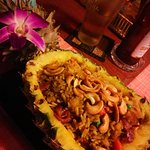 Fried rice in pineapple, a must! So so delicious