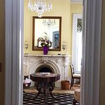 view from foyer into the parlor/drawing room
