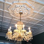 One of many beautiful Chandeliers throughout the Inn