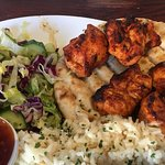 Sultan's Chicken Shish with Rice & Salad