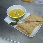 Soup & Sandwich deal. Soup £1.95 with any sandwich