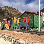 The beach huts at Muizenberg