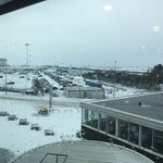Snowy Cardiff Airport