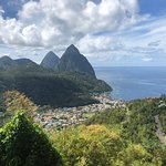 Stunning view of the Pitons and Soufriere