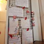 muro delle dediche dei clienti