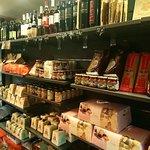 Le décor, épicerie italienne et restaurant !
