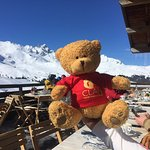 CLAN Cancer Support Teddy from Aberdeen Scotland 🏴󠁧󠁢󠁳󠁣󠁴󠁿 at Le Bel Air, Courchevel