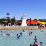 The wave pool - calm for 15 minutes then waves for 15 minutes