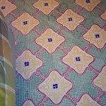 Floor with bedspread