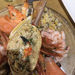 The Seafood Sharing Platter served with fresh bread