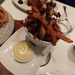 frites with Parmesan and shaved truffle