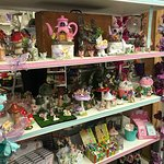 A shelf of unusual offerings at Mansfield Sweets