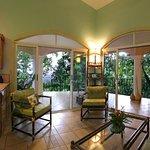 Indoor salon and kitchen of Villa la Cuesta