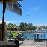 Absolutely beautiful view from Bonefish Seafood Restaurant in Denarau Island, Fiji.