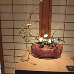 bamboo basket display