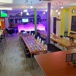 Sala de refeições e de Laser