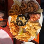 Seafood platter to share.