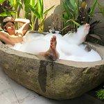 The stone bathtub.
