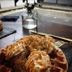 salted caramel waffles