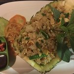 Annadya Fried Rice in a pineapple