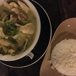 Chicken Green curry with rice