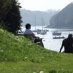 The view of the river from the bottom of our valley garden at Budock Vean Hotel Cornwall