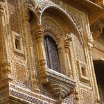 Beautiful carving on one of the balcony