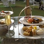 High Tea with champagne in the garden