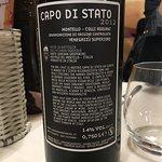 Repas copieux, Seppie formidable, bon conseil pour le vin... Parfait!!!!