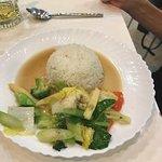 Veggie dish and rice