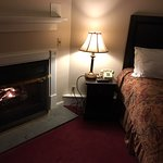 room with gas fireplace