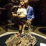 Gemstone artist's sculpture