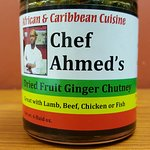 Chef Ahmed's Dried Fruit Ginger Chutney available at our sister store Jambo Imports
