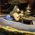 Bathing woman statue by gemstone artist