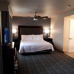 bedroom portion of studio suite
