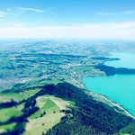The serene views from Rigi Kulm of Lake Lucerne, valleys and mountain towns below.