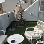 Зона отдыха на крыше отеля