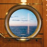 The sunrise from onboard the MV Blue Puttees, on route to Port aux Basques.