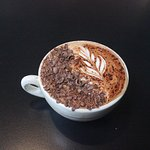 Hand grated chocolate cappuccino