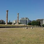 View of hotel building from Temple of the Olympian Zeus