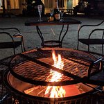 Outdoor Fire Pit by Eating/BBQ Area
