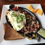 CORNED BEEF AND HASH BROWN SKILLET - 13.95