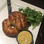 Crab cakes, stuffed pretzel & coconut shrimp! All delicious, all tasty treats!!!