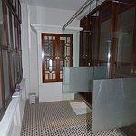 Shower vanity area