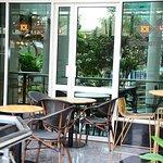 Kesh Kesh Coffee Roastery & Cafe back terrace.Ample sitting space,Power outlets, Free WIFI & par